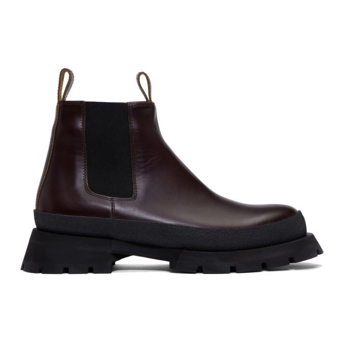Photo: Jil Sander Burgundy Antick Chelsea Boots