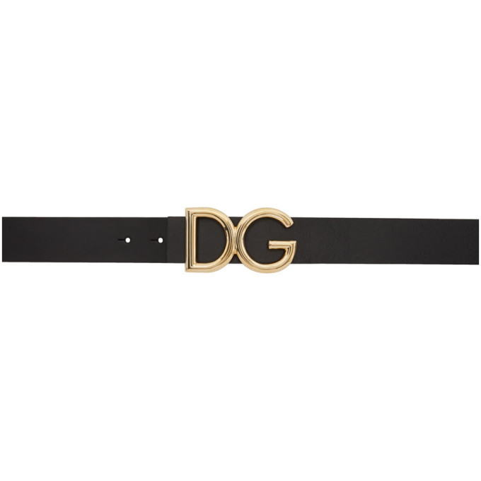 Photo: Dolce and Gabbana Black and Gold DG Belt