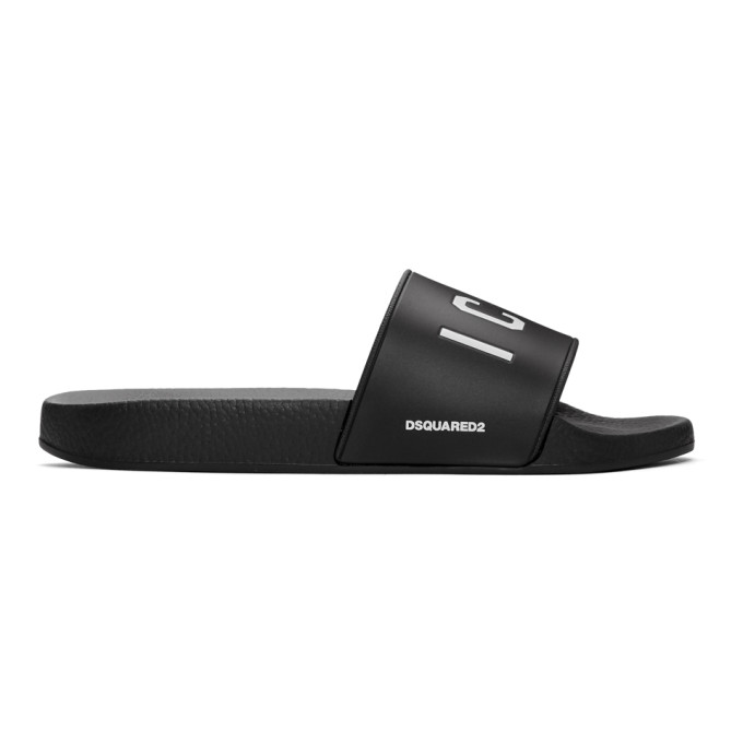 Photo: Dsquared2 Black Icon Slides