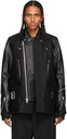 Sacai Black Leather Blouson Jacket