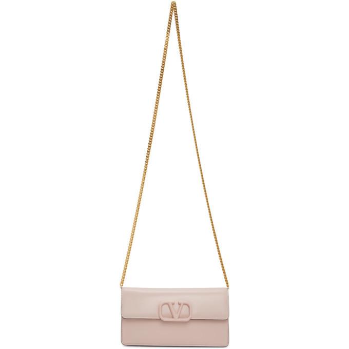 Photo: Valentino Pink Valentino Garavani VLogo Wallet Bag
