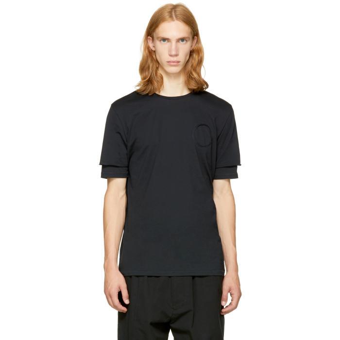 3.1 Phillip Lim Black Double Sleeve T-Shirt