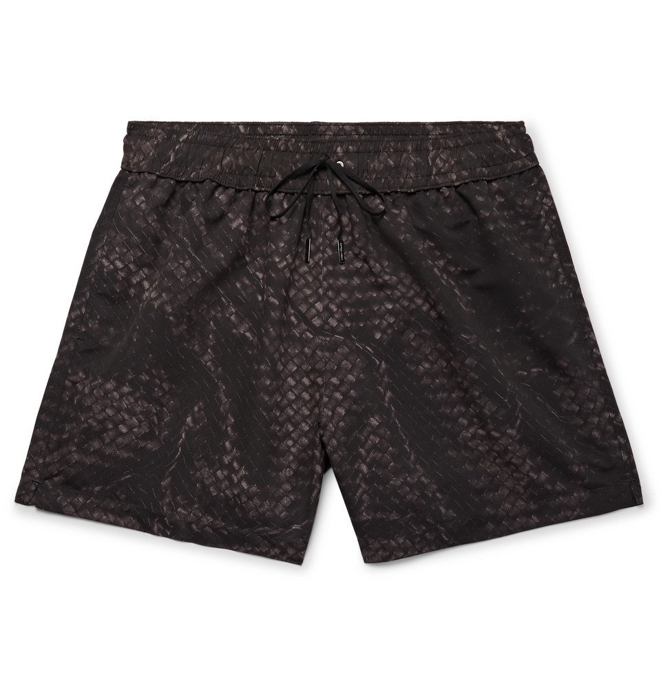 Photo: Bottega Veneta - Mid-Length Printed Swim Shorts - Black