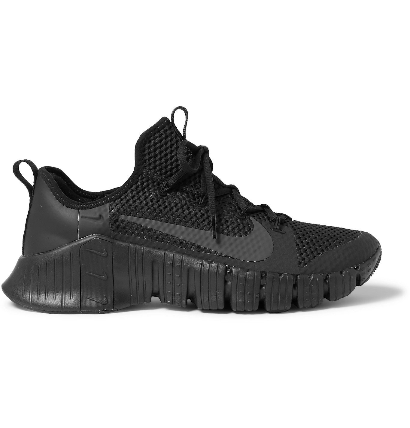 Photo: Nike Training - Free Metcon 3 Coated-Mesh Sneakers - Black