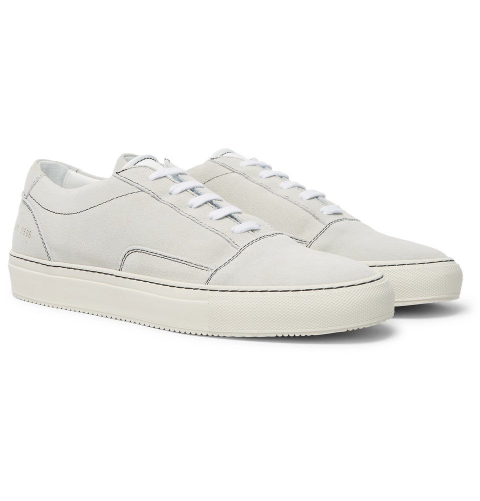 Common Projects - Cap-Toe Suede Sneakers - Men - Off-white