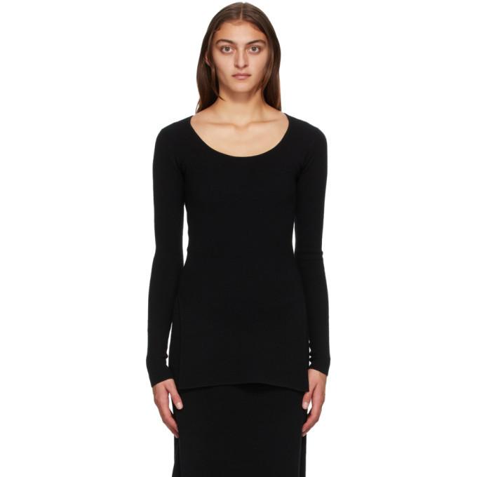 Photo: Toteme Black Wool Moro Sweater