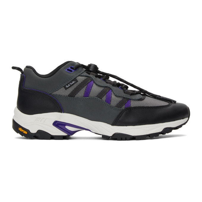 Photo: PS by Paul Smith Grey and Purple Roscoe Sneakers