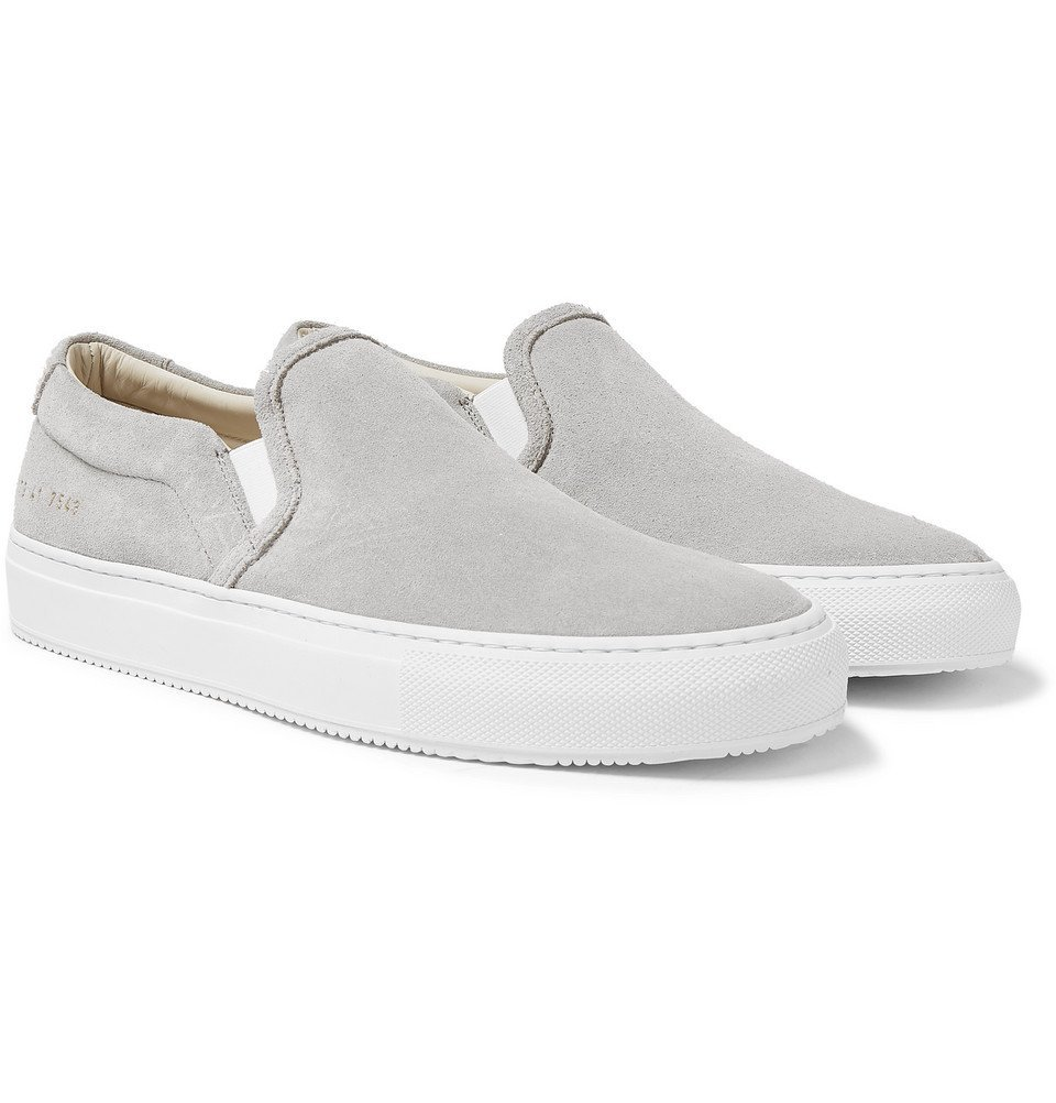 Photo: Common Projects - Suede Slip-On Sneakers - Gray