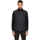 Dunhill Navy Down Knitted Jacket