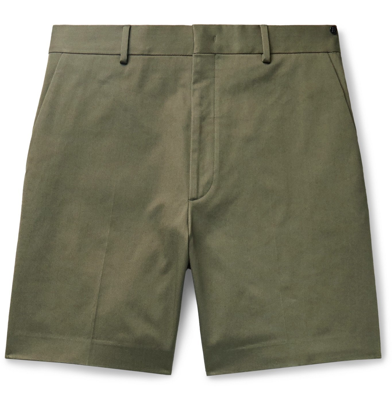 Photo: Fendi - Stretch Cotton-Twill Shorts - Green