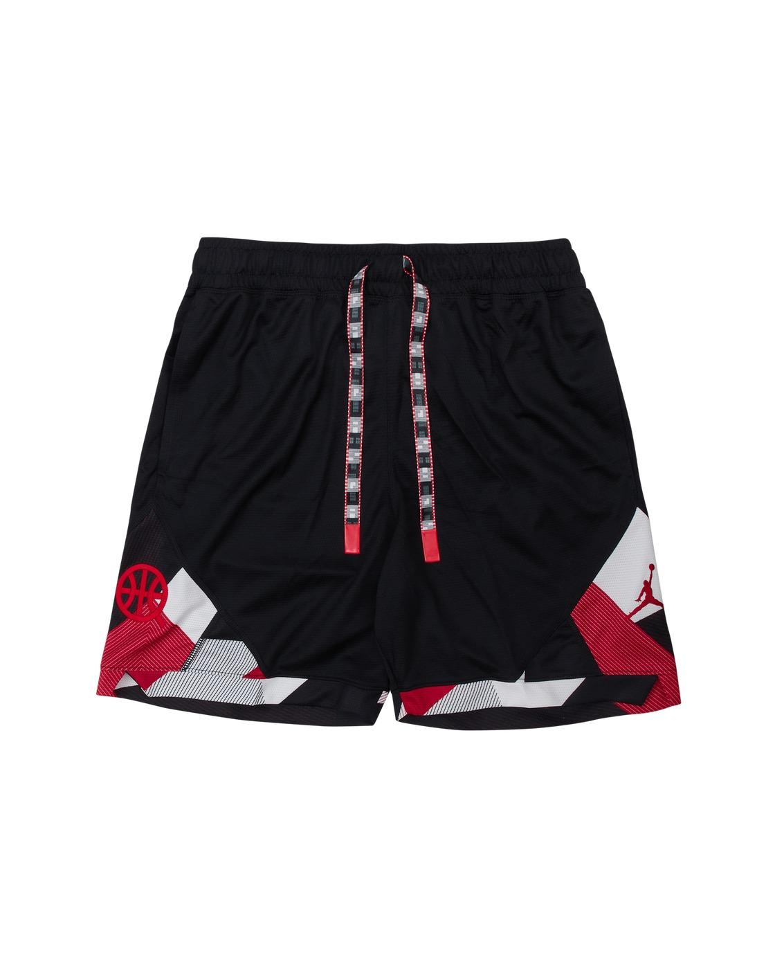 Photo: Nike Jordan Quai 54 Diamond Shorts Black/University Red