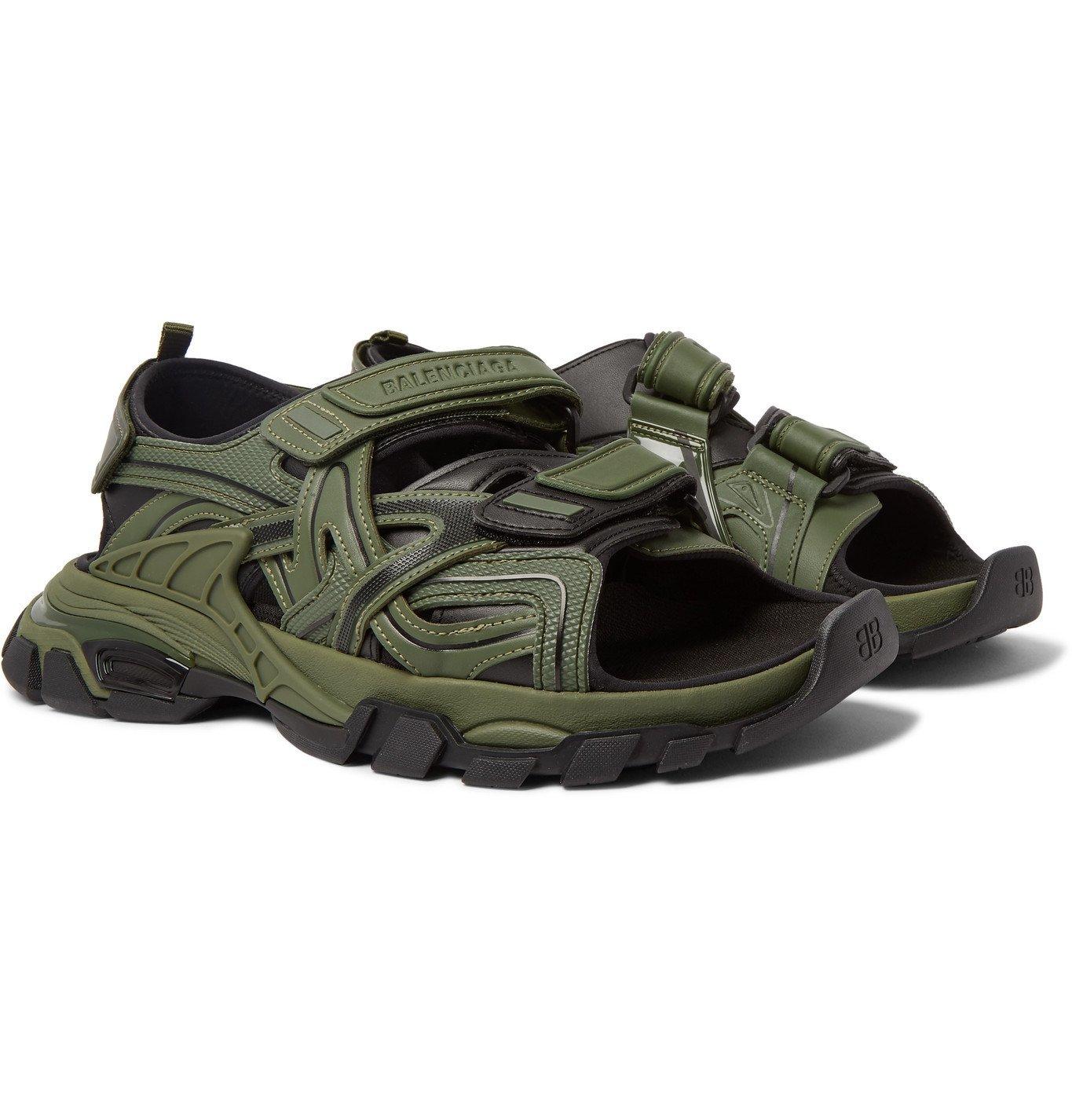 Photo: Balenciaga - Track Neoprene and Rubber Sandals - Green