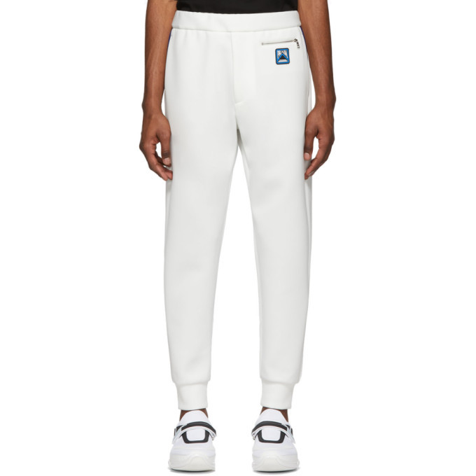 Photo: Prada White Techno Jersey Lounge Pants