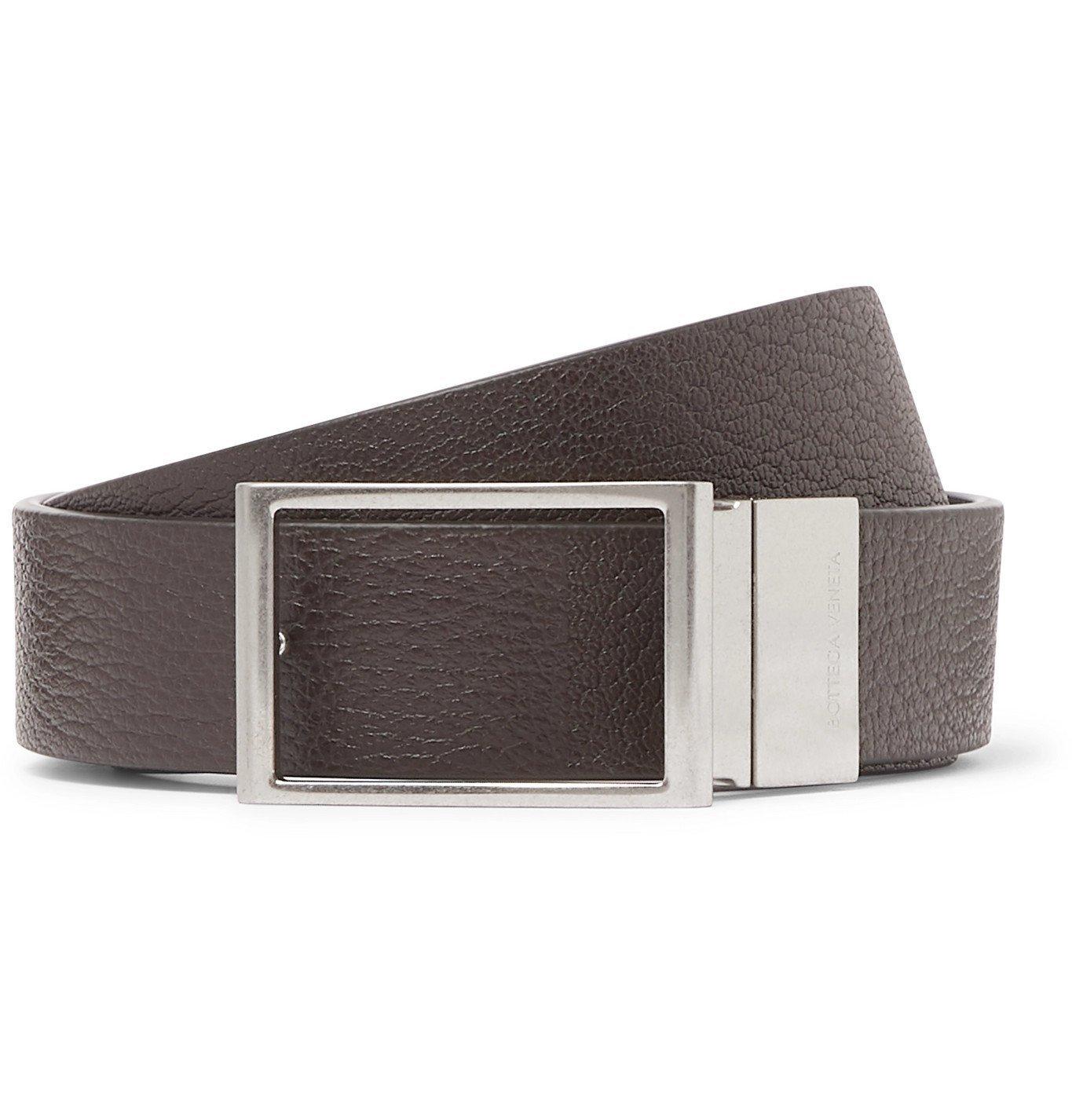 Photo: Bottega Veneta - 3cm Reversible Textured-Leather Belt - Brown