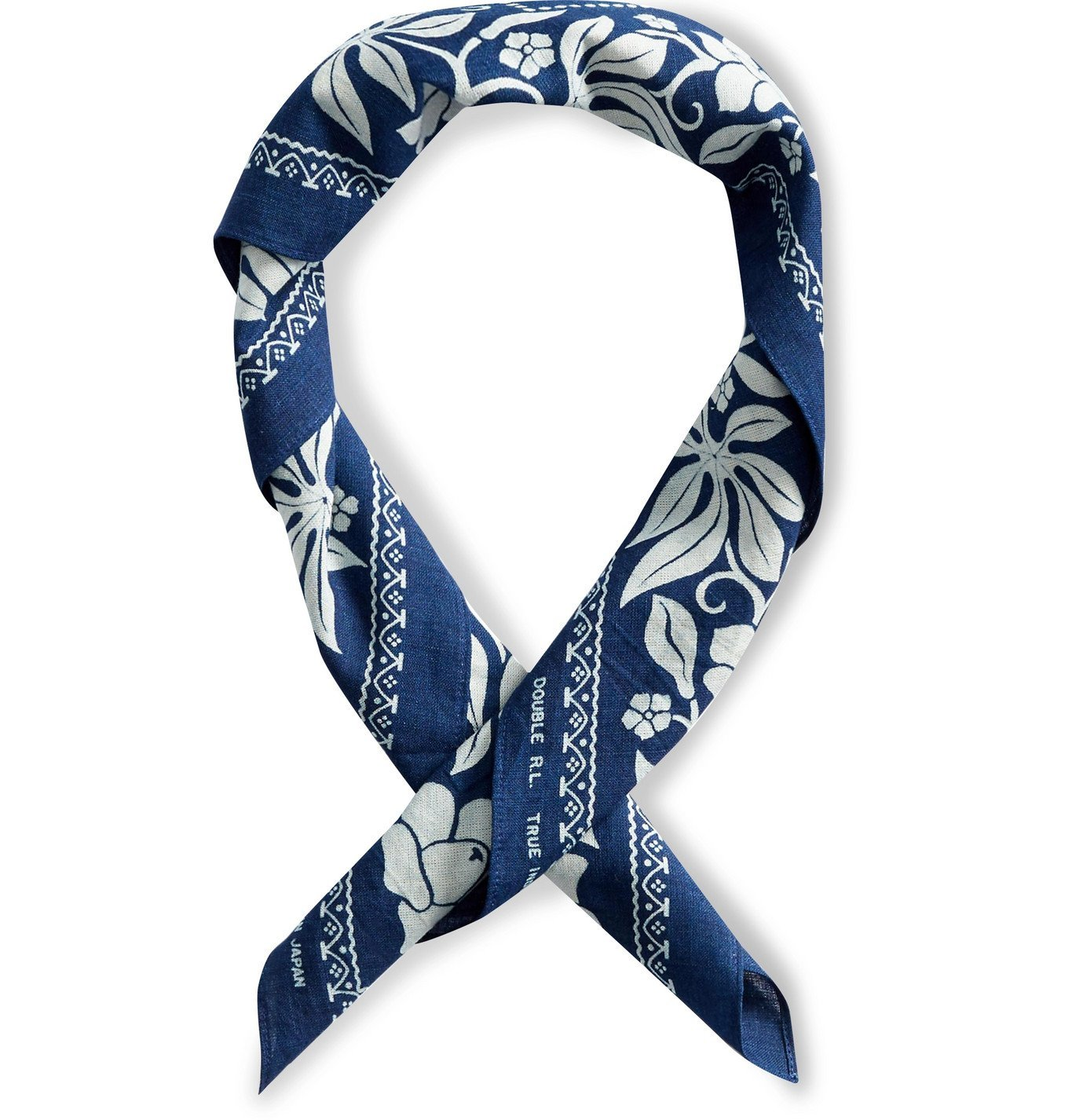 Photo: RRL - Maxwell Indigo-Dyed Cotton Bandana - Blue