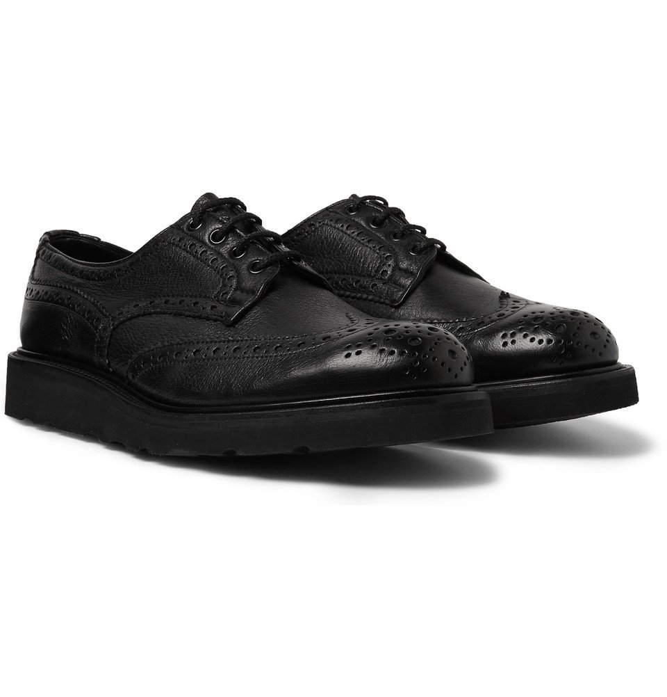 Photo: Tricker's - Bourton Full-Grain Leather Brogues - Black