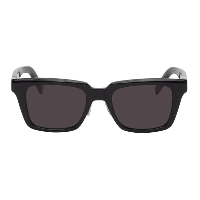 Photo: Kenzo Black Metal Logo Rectangular Sunglasses