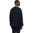 Sacai Reversible Green and Black Check Jacket