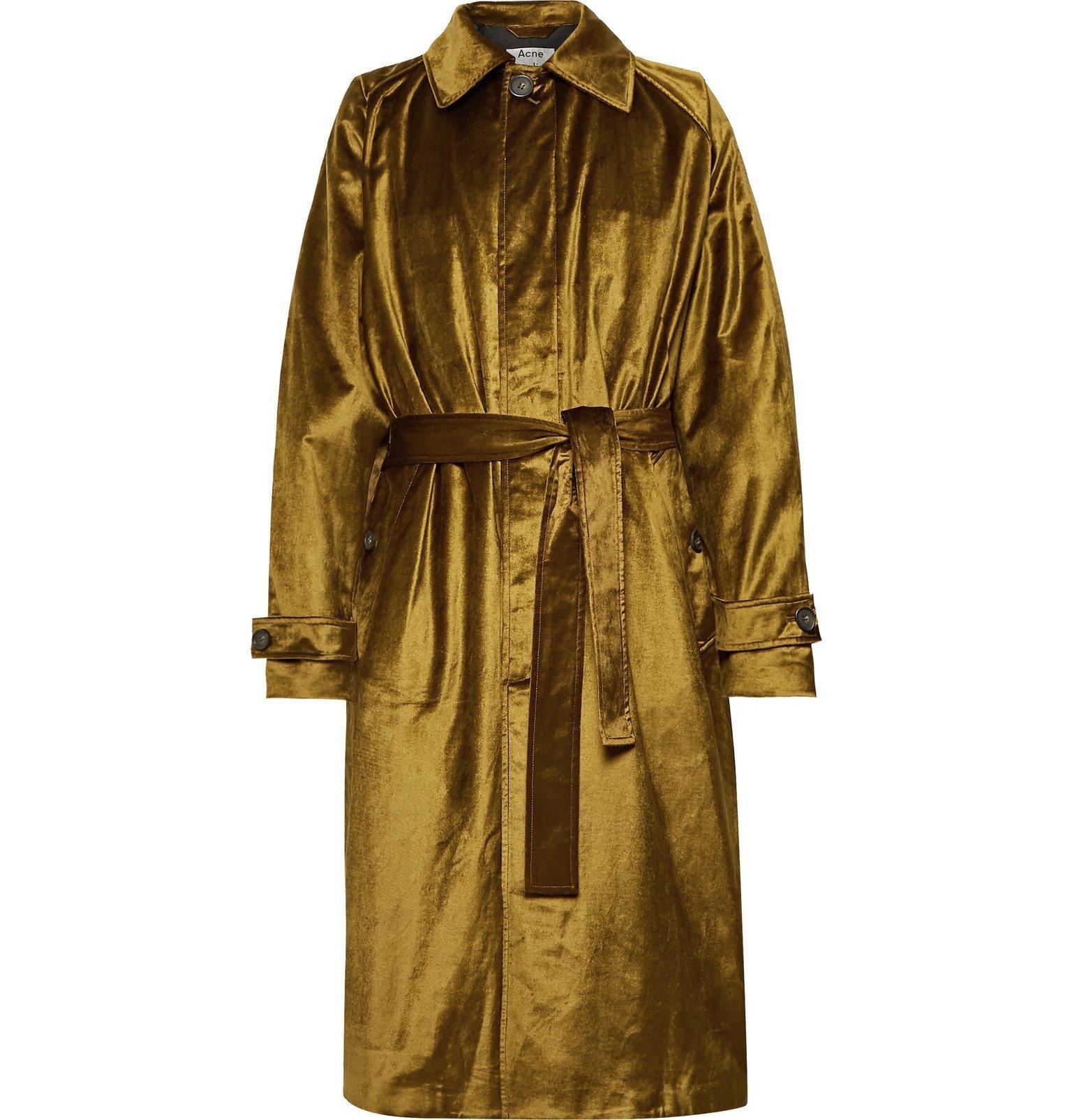 Photo: Acne Studios - Oversized Cotton-Blend Velvet Coat - Brown