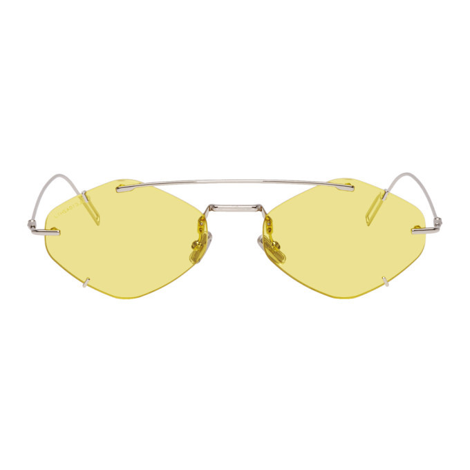 Photo: Dior Homme Silver and Yellow DiorInclusion Sunglasses