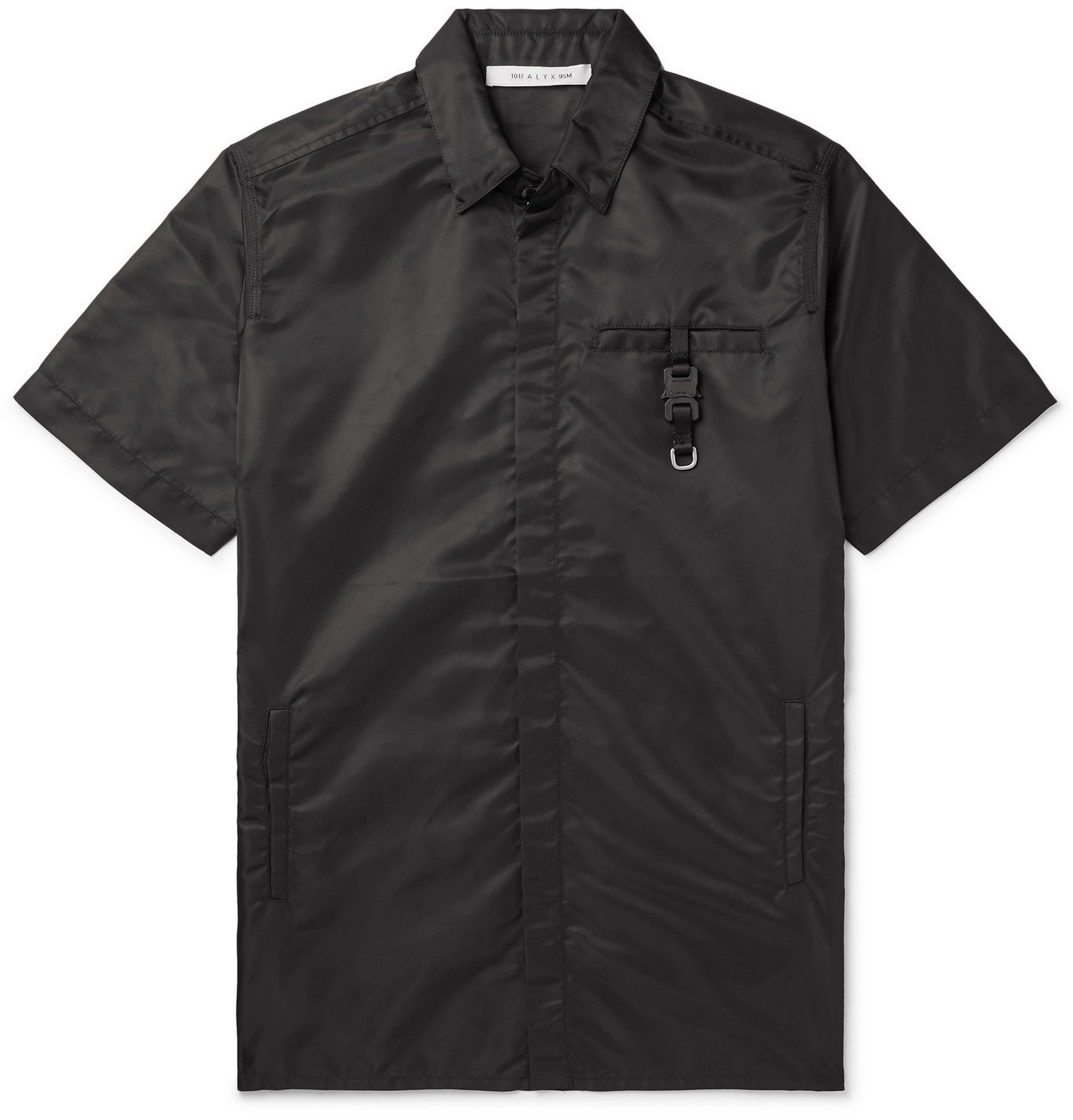 Photo: 1017 ALYX 9SM - Buckle-Detailed Nylon Shirt - Black