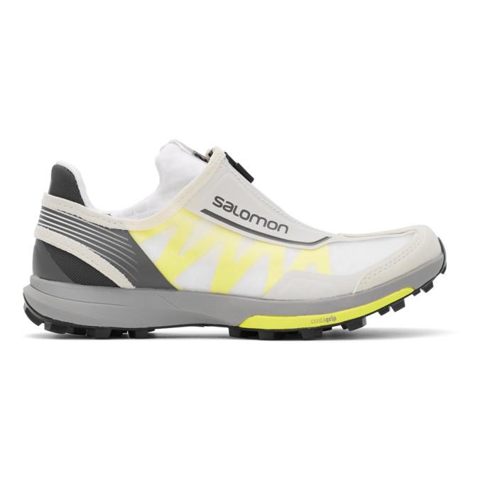 Photo: Salomon White and Yellow Amphib Sneakers