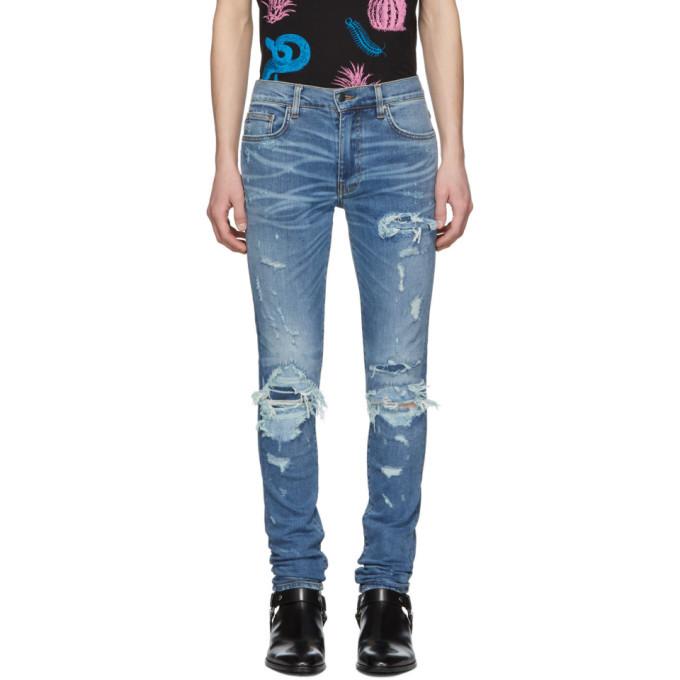 Photo: Amiri Indigo Super Repair Jeans