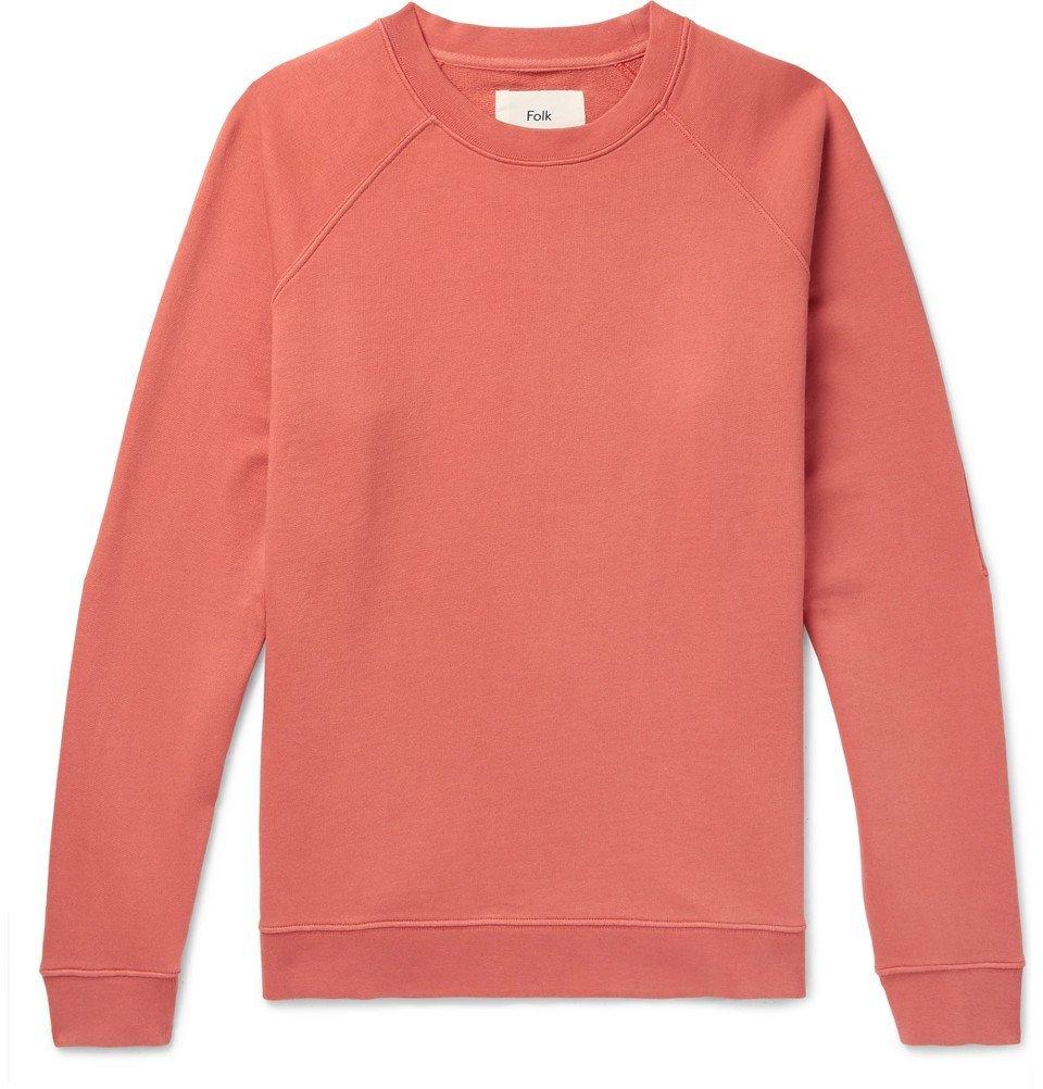 Photo: Folk - Rivet Loopback Cotton-Jersey Sweatshirt - Men - Coral