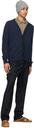 Margaret Howell Navy Wool Dense Twill Trousers