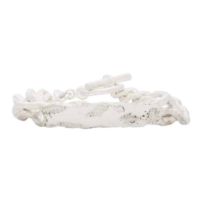 Photo: Pearls Before Swine Silver Id Tag Bracelet