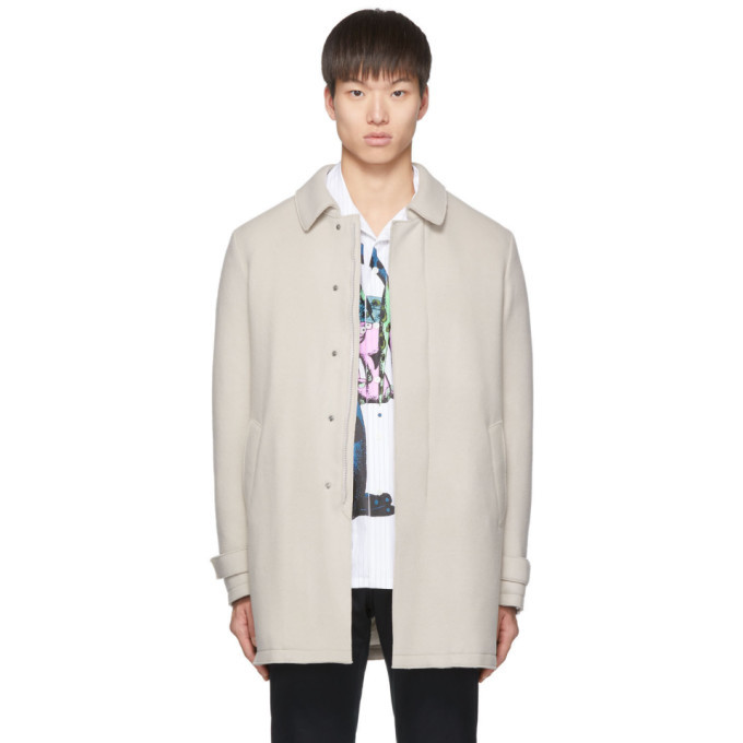 Photo: Herno Beige Wool Laser Cut Overcoat
