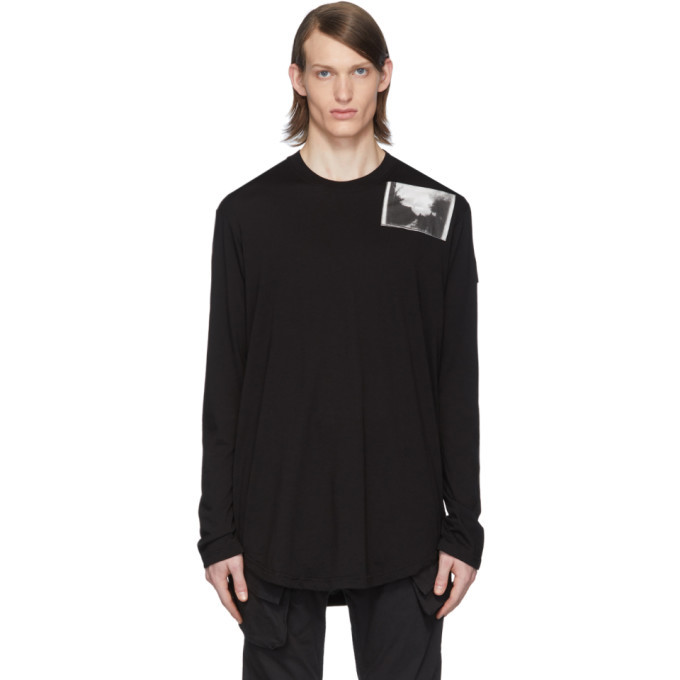 Photo: Julius Black Patch Print Long Sleeve T-Shirt