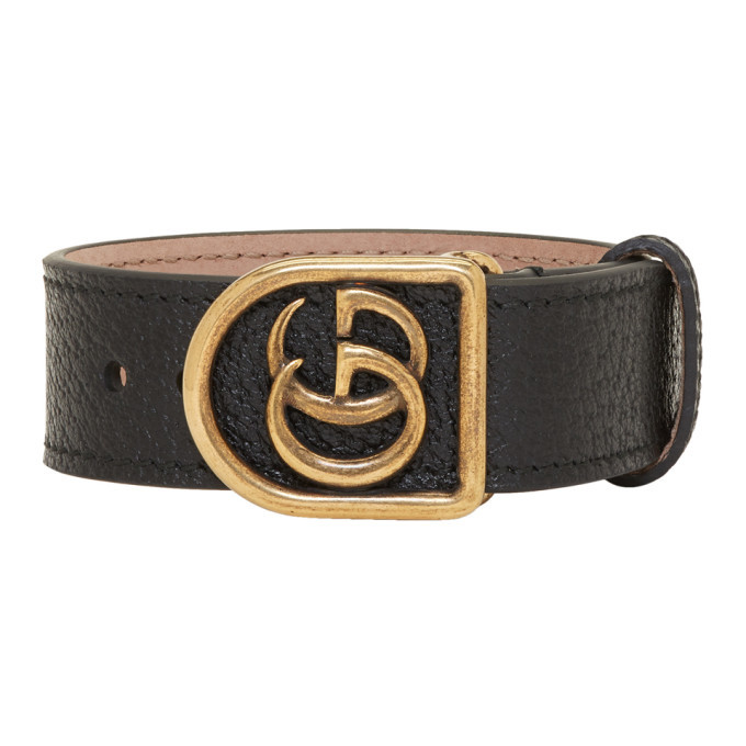 Photo: Gucci Black GG Marmont Bracelet