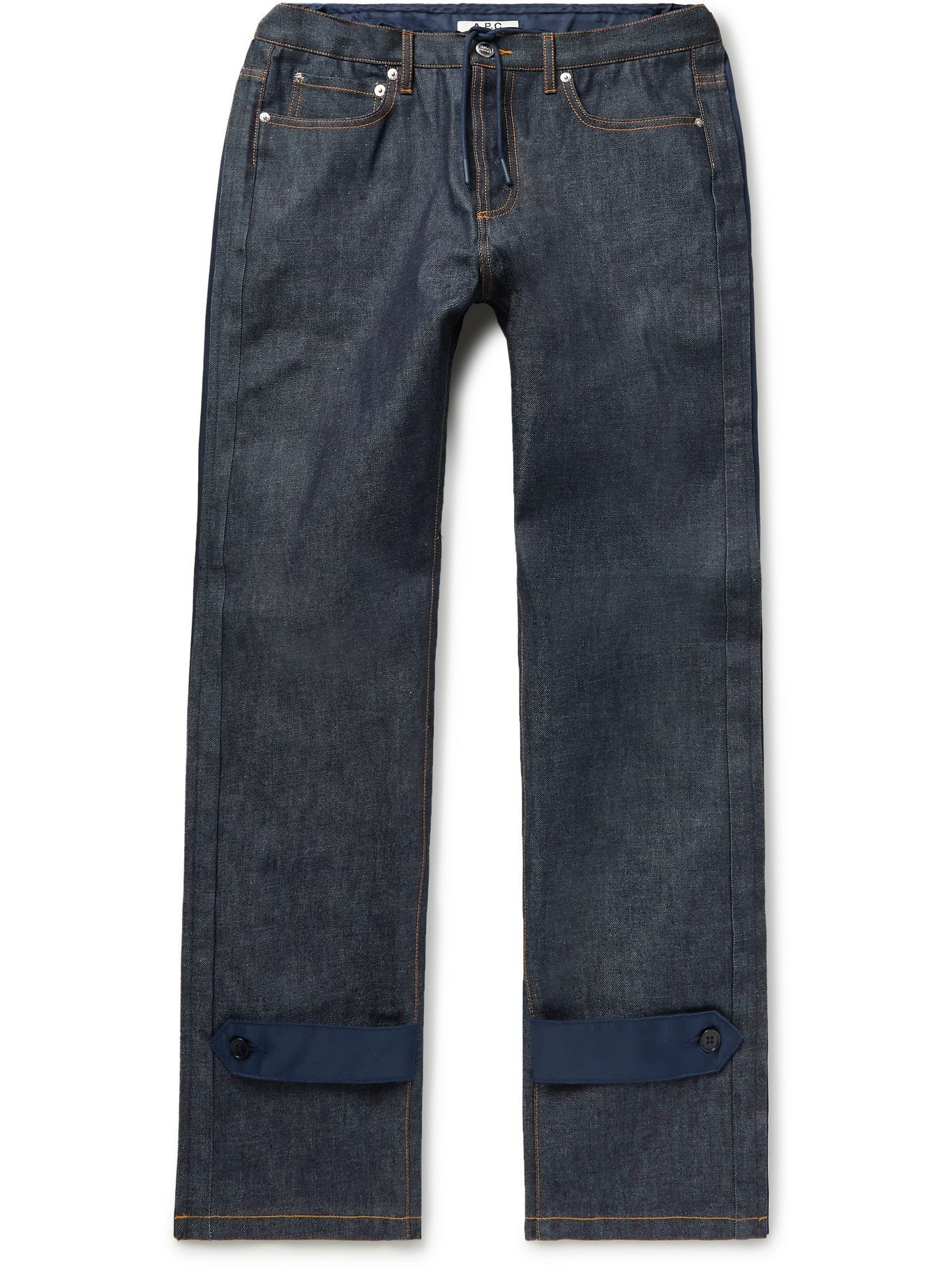 Photo: A.P.C. - Sacai Nylon-Trimmed Denim Jeans - Blue - M