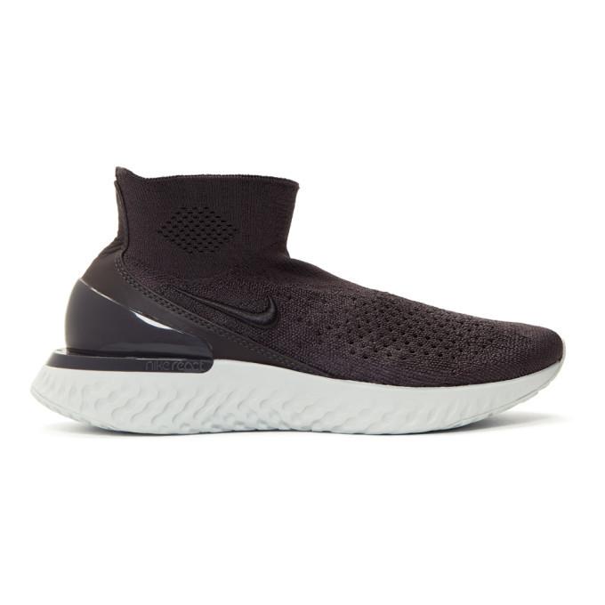 Photo: Nike Grey Nike Rise React Flyknit Sneakers