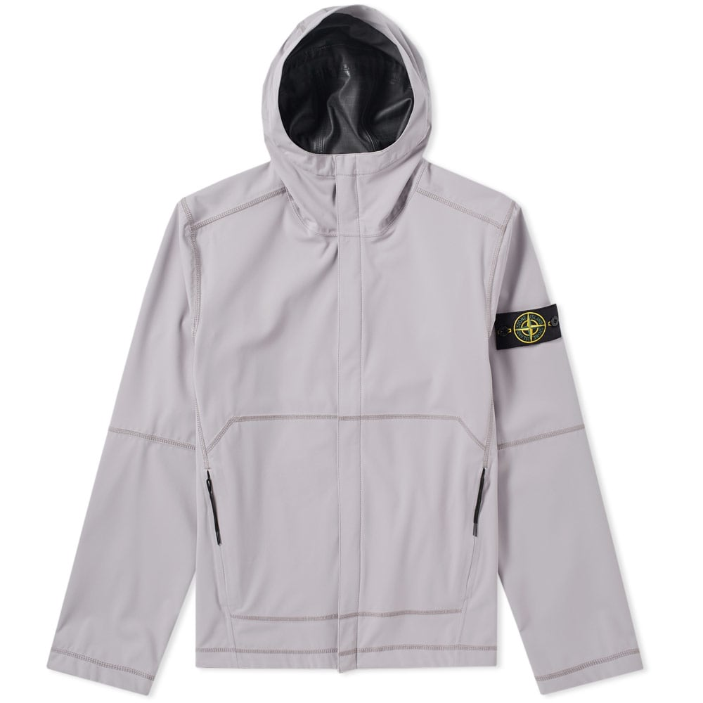 Photo: Stone Island Light Soft Shell SI Check Grid Hooded Jacket