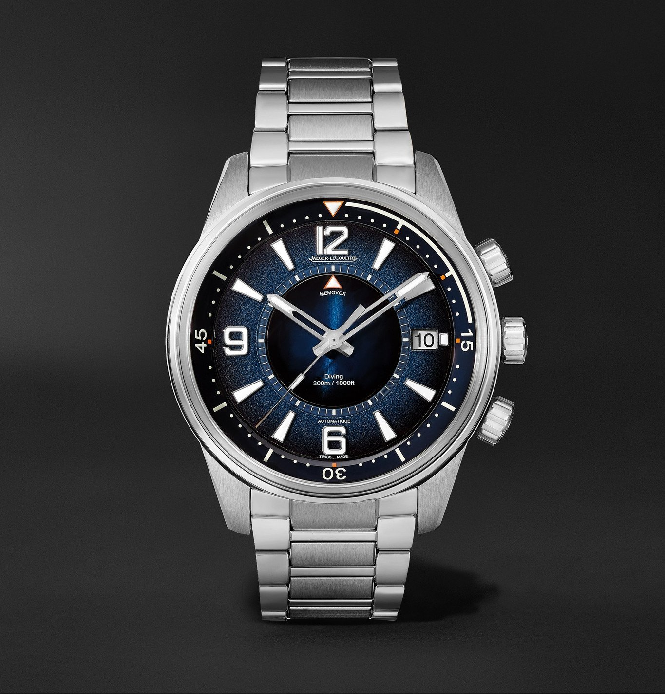 Photo: Jaeger-LeCoultre - Polaris Mariner Memovox Automatic 42mm Stainless Steel Watch, Ref. No. 9038180 - Black