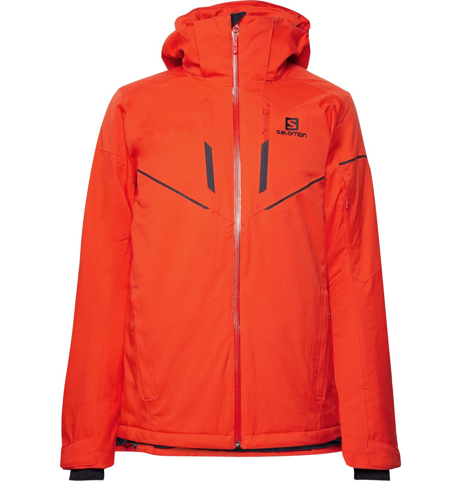 Photo: Salomon - Stormrace Hooded Ski Jacket - Orange