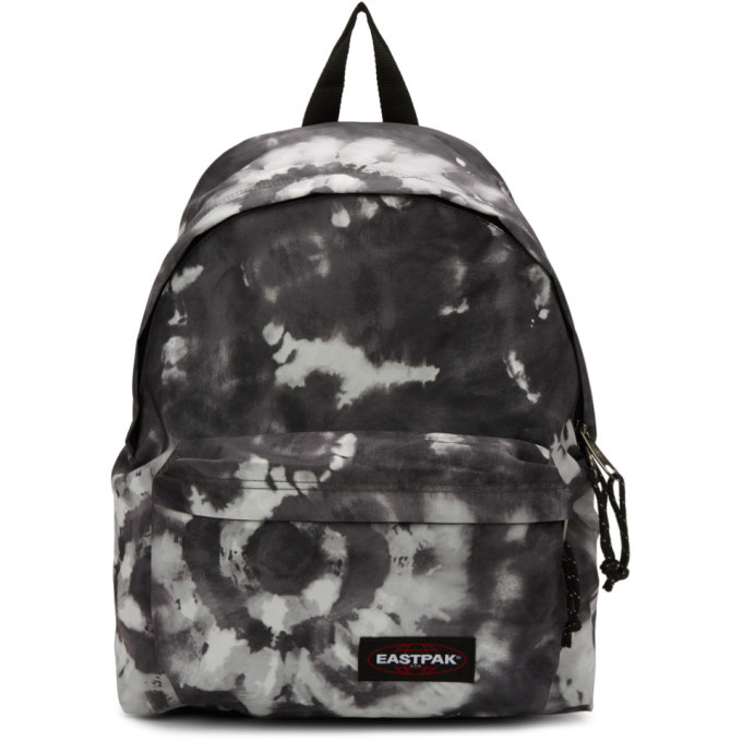 Photo: Eastpak SSENSE Exclusive Black and White Tie Dye Padded Pakr Backpack