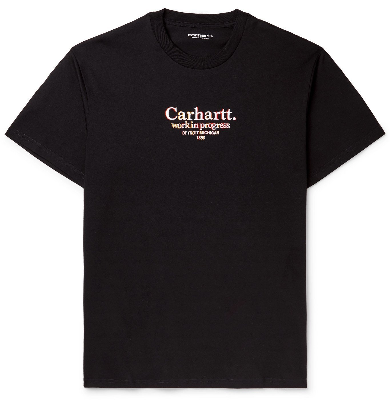 Photo: Carhartt WIP - Logo-Embroidered Cotton-Jersey T-Shirt - Black
