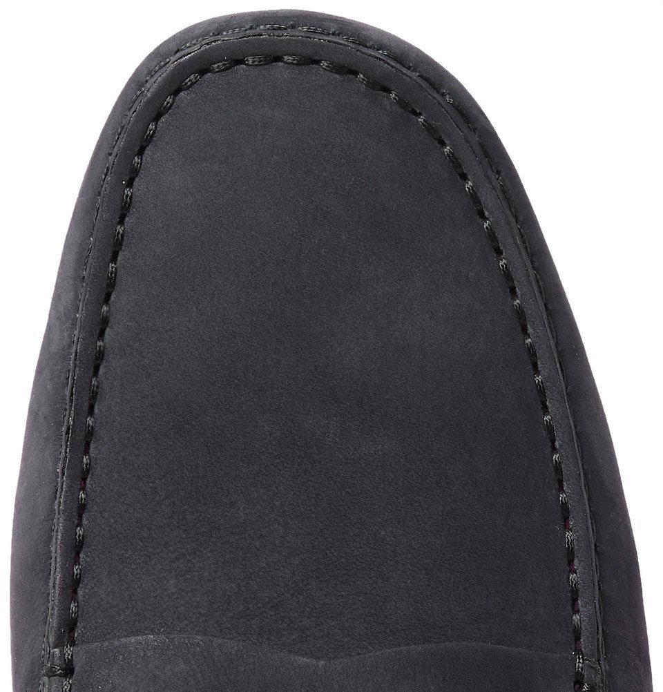 Tod's - Gommino Suede Driving Shoes - Men - Midnight blue