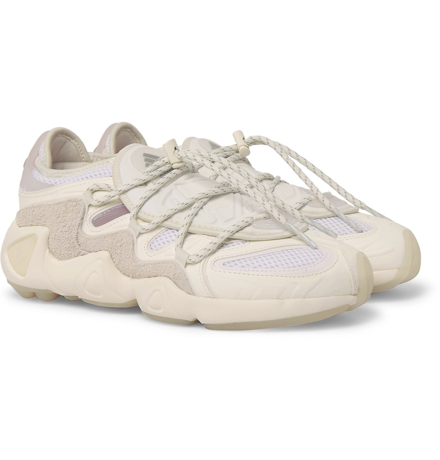 Photo: adidas Consortium - 032c Salvation Suede, Leather and Mesh Sneakers - White