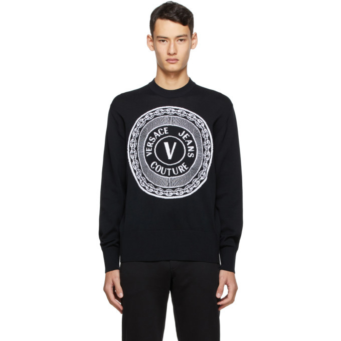 Photo: Versace Jeans Couture Black New Buttons Sweater