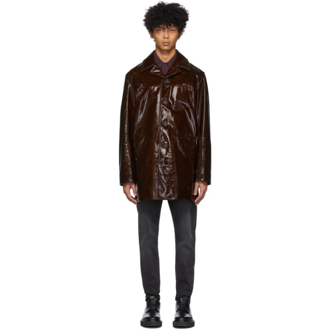 Photo: Acne Studios Brown Lambskin Loper Jacket