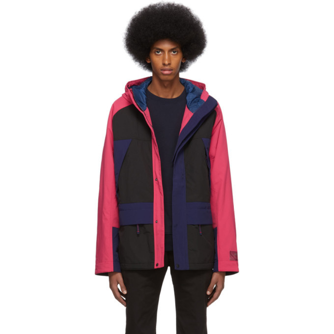 Photo: PS by Paul Smith Black and Pink Sport Parka