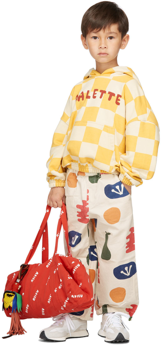 Photo: Jellymallow Kids Off-White Painting Jogger Trousers