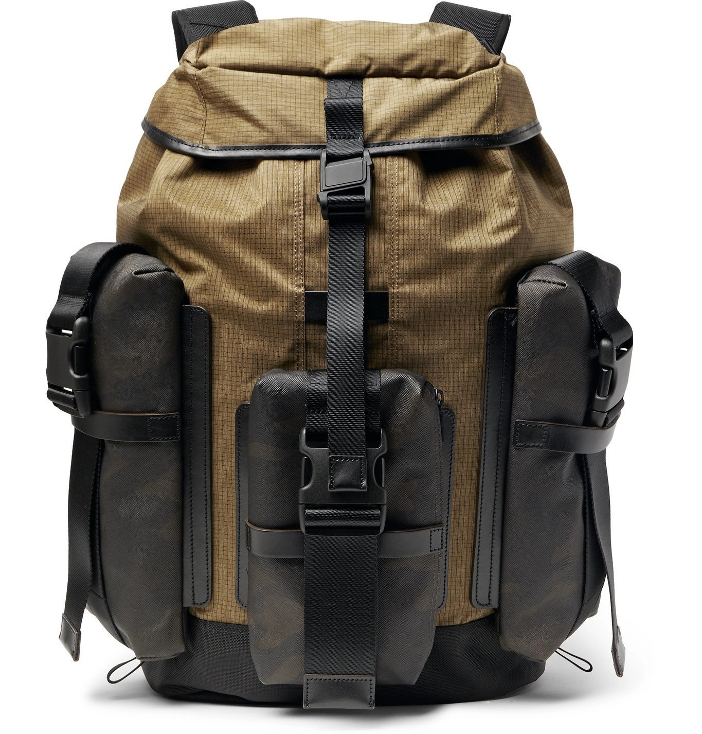 Photo: Master-Piece - Rogue Leather-Trimmed Coated-Cotton, CORDURA Ripstop and Nylon Backpack - Neutrals
