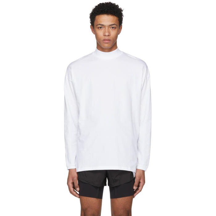 Martine Rose White Classic Funnel Neck T-Shirt