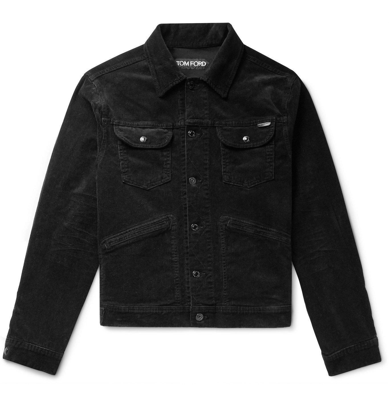 Photo: TOM FORD - Cotton-Blend Corduroy Trucker Jacket - Black
