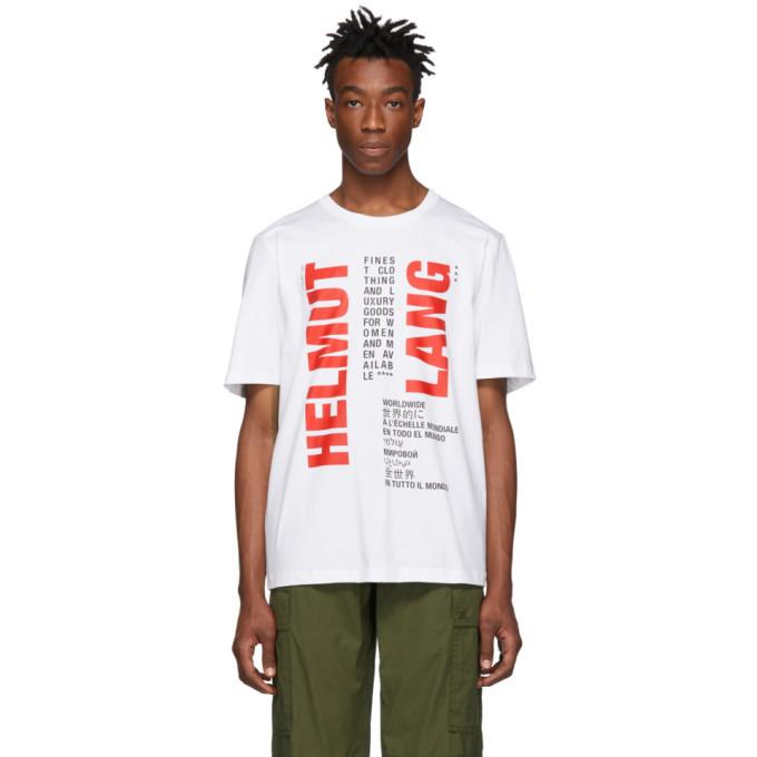Photo: Helmut Lang White Worldwide T-Shirt